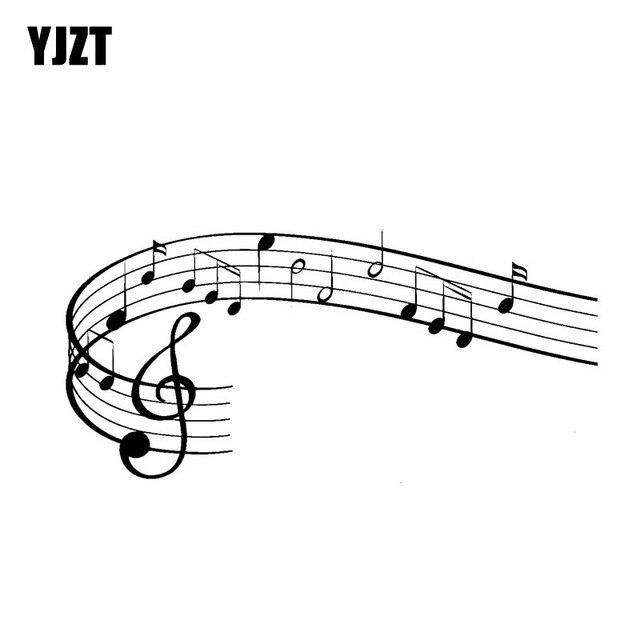 Yjzt 178cm83cm Wonderful Rock Music Symbol Vinyl Motocycle Car