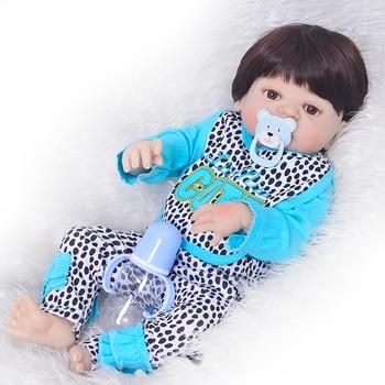 Bebes Reborn doll 57CM Full Body silicone doll boy Reborn Baby Doll Bath Toy Lifelike Newborn Princess victoria Bonecas Menino