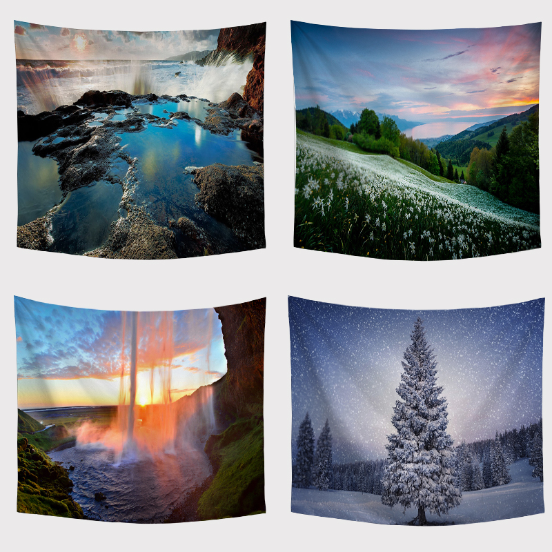 Beautiful Nature View: Beautiful Natural View Tapestry Wall Hanging Camping Tent