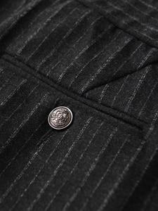 Image 4 - Minglu w pionowe paski męskie spodnie Plus rozmiar 4xl luksusowa miękka przędza barwiona jesień mężczyźni dorywczo spodnie Slim Fit elastyczne spodnie obcisłe mężczyzn