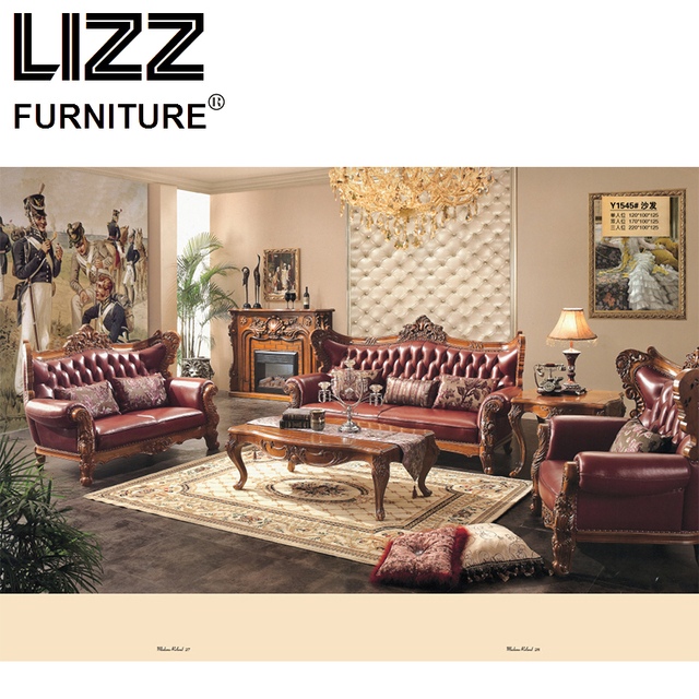 Chesterfield Sofa Royal Furniture Set Living Room Antique Sofa ...