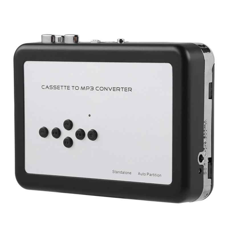Portable Cassette Tape to MP3 Converter with Headphone USB Flash ...