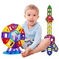 Магнитный Конструктор Мини Строительные Блоки 88 шт. Строительные Игрушки для Детей Развивающие Игрушки Пластиковые Творческие Кирпичи