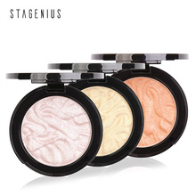 STAGENIUS baked Highlighter stick All Over Shimmer Highlighting Powder eyeshadowTexture Water-proof Silver Shimmer Light цена