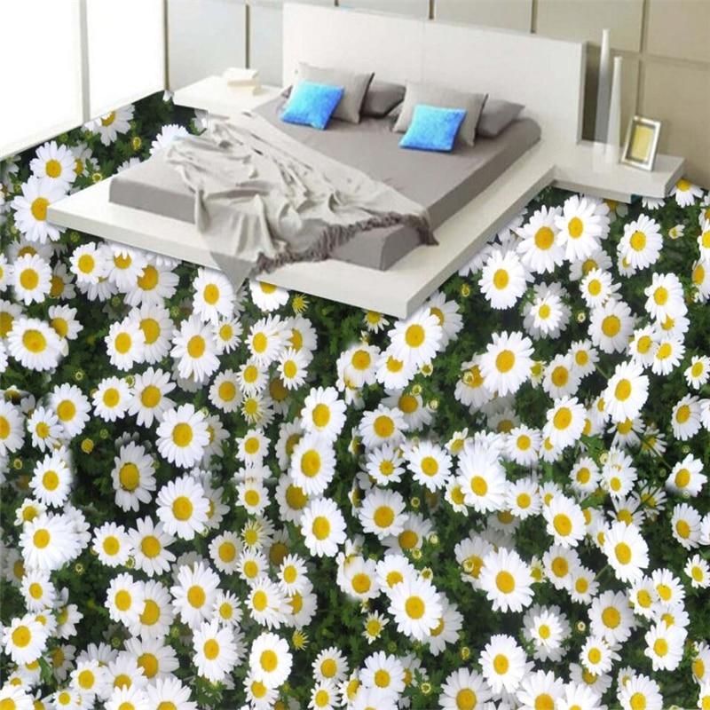 beibehang Wild chrysanthemum flowers plant flowers 3D flooring custom large mural pvc thick wear-resistant green floor paste mukund shiragur d p kumar and venkat rao chrysanthemum genetic divergence