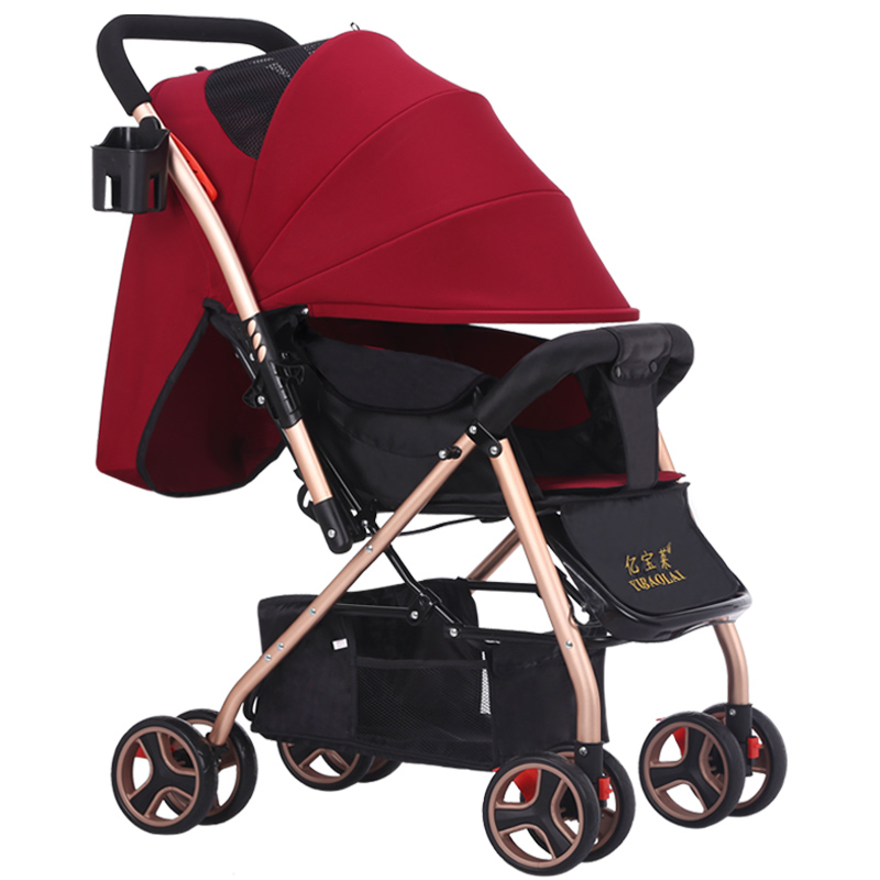 Baby stroller can sit in the ultra-light baby carriage folding umbrella winter summer baby stroller baby stroller ultra portable umbrella car baby winter summer hand can sit and lie folding child baby car suspension