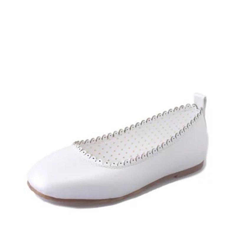 Yau Ciel 41 Plates Plus Respirant Doux Confortable Chaussures Taille La blanc Slip Casual Pu Appartements Femme Accroché Bout Summer 2018 on rose Style Rond Femmes d7dqpRwB