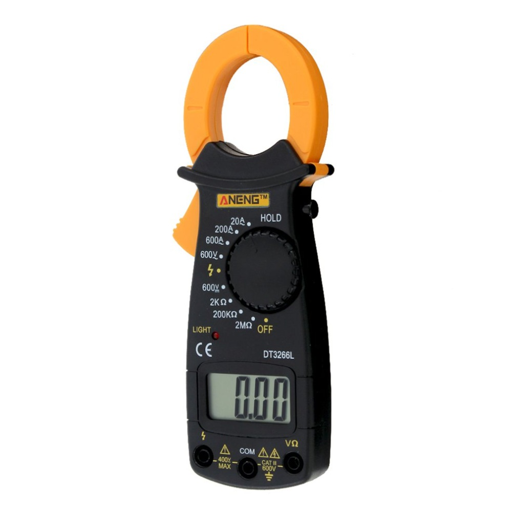ANENG DT3266L Digital Clamp ammeter <font><b>AC</b></font> <font><b>DC</b></font> Ammeter Multimeter Voltmeter 400A Electronic Clamp meter Diode Fire Wire Tester Sale image