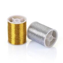 100 метров золото/серебро/набор прочное оверлочное шитье МАШИНА нитки полиэстер крестиком сильные нити для швейных принадлежностей