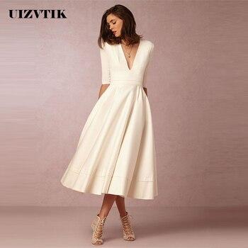a65ad9c23 Vintage vestido de verano de las mujeres 2019 Casual Plus tamaño Vestido  largo de fiesta mujer Sexy elegante vestido de blanco cuello en V vestidos  3XL