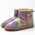 The new 2015 national silver snow boots Ms. warm boots retro ethnic style five color available botas feminina DT588