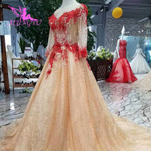 AIJINGYU Dress 2018 With Train Ball Gowns Wedding Dresses
