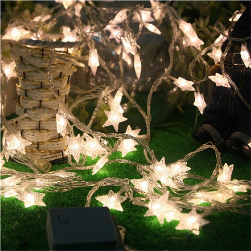 10M 50Led Lights Juletre Snø Stjernepærer Led String Fairy Lys Xmas - Ferie belysning - Bilde 3