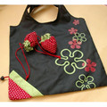 Woweino Happy Gifts 53 x 38cm Storage Bag Travel Home New Simple Strawberry Fruit Green Folding Convenience Shopping Bag