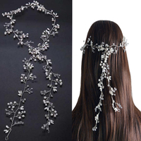 Idealway Handmade Bridal Crystal Rhinestone Hair Piece Women White Simulated Pearl DIY Jewelry Wedding Tiaras Crown