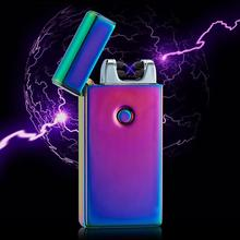 Double Arc Electric USB Lighter Plasma Windproof Flameless Cigarette Fashion Cool Gift For Boyfriend High Quality Accessories
