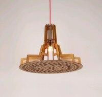 新中国農村スタイルプライ木材チップシャンデリア手作り E27 LED ランプ屋内ランプのためのポーチ & 前庭 & 廊下 BT280