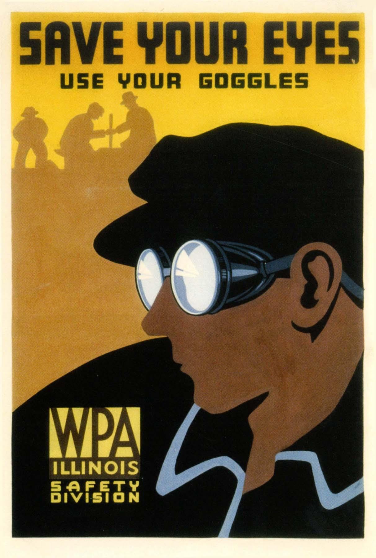 Vintage Iklan Kesehatan Poster Menggunakan Kacamata Klasik Lukisan
