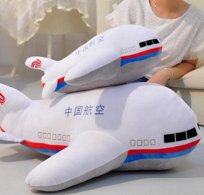 Yellow Airplane Stuffed Animal Aircraft Airplane Cartoon Plush Toy 40cm For Kids