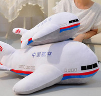 55cm Plane Plush Toy Doll Aircraft Model Stuffed, Airplane Pillow Plush Dolls