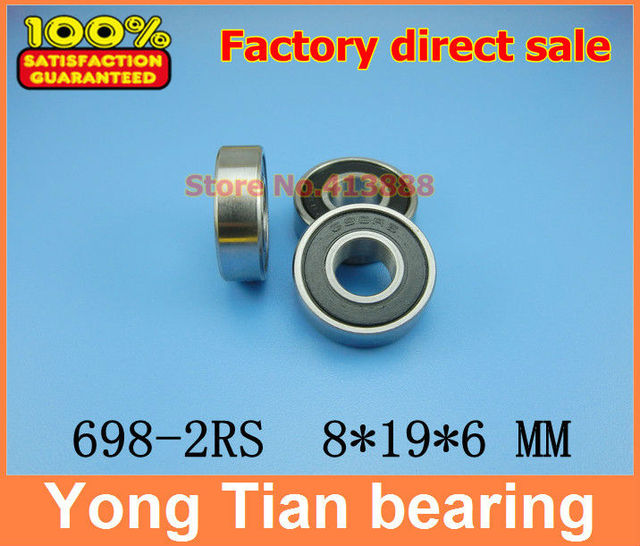 NBZH sale price High quality miniature deep groove ball bearing 698 2RS 698 2RS 698RS 698RZ R 1980HH 8*19*6 mm 50pcs/lot ABEC 1