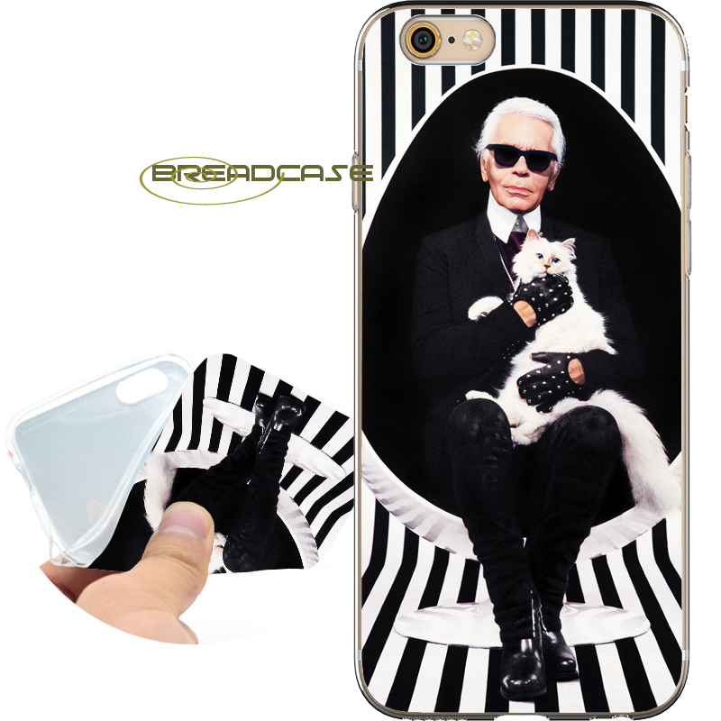 Coque Karl Lagerfeld Capa Soft Clear TPU Silicone Phone Cases for iPhone X 8 7 6S 6 Plus 5S SE 5 5C 4S Case iPod Touch 6 5 Cover