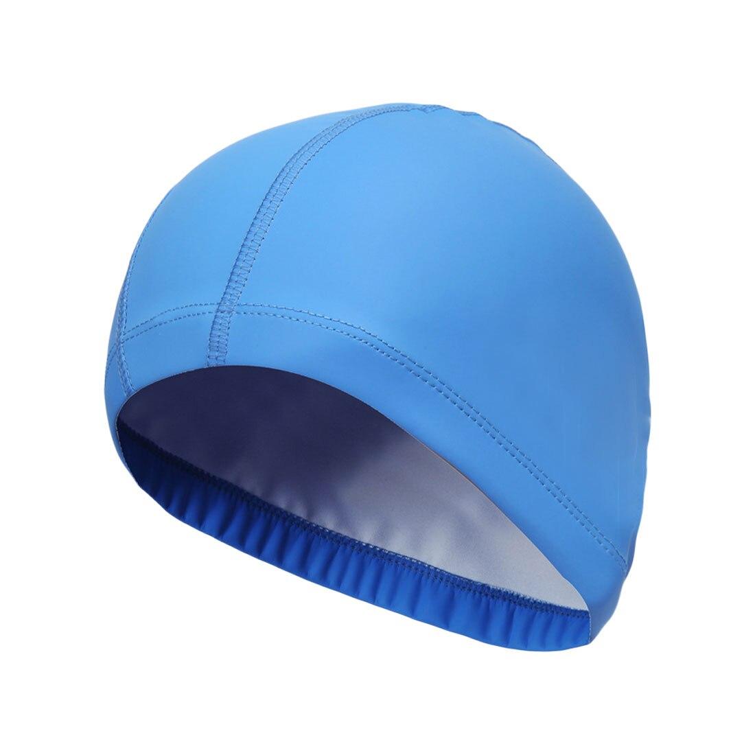 Лидер продаж эластичные Водонепроницаемый PU ткани защищает уши длинные волосы спортивные Плавание бассейн шляпа Плавание ming воды Кепки св...