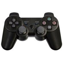 Bluetooth inalámbrico doble de vibración remoto controlador gamepad joystick para sony playstation 3 juego ps3 negro accesorios # f1079