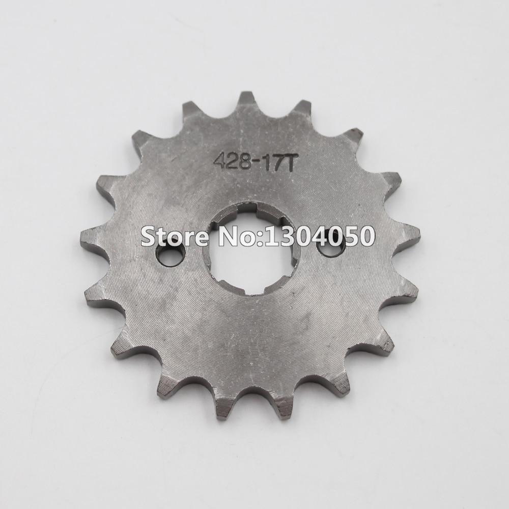 428 17 Dientes 17 T Tracción Delantera Contra Piñón Del Motor Sdg Ssr 110 125 Pit Dirt Bike Atv Lifan Yx Eje De 17 Mm De Longitud