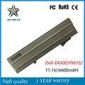 6 células 11.1 V 60Wh Novo de Alta Qualidade Bateria Do Portátil para Dell E4300 FM332 XX327 CP294 FM338 8R135