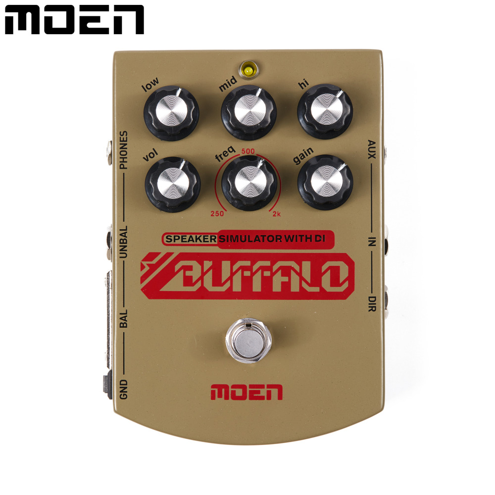 Moen Buffalo Equalizer Electric Guitar Effect Pedal Speaker simulator with DI Headphone Ourputs MO-BA педаль compressor и equalizer strymon ob 1
