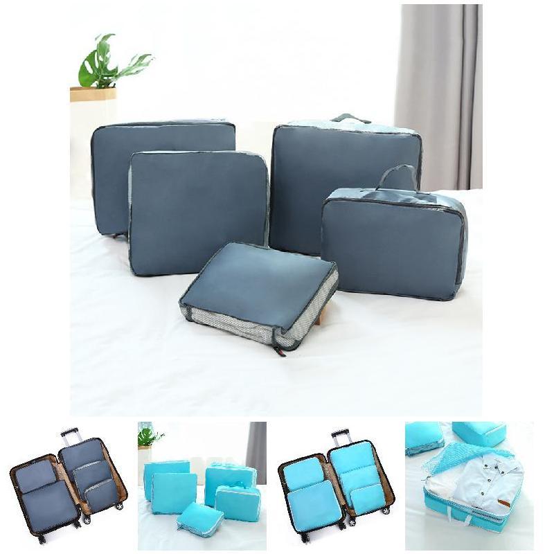 5 Stücke Wasserdichte Kleidung Reise Lagerung Taschen Verpackung Cube Gepäck Organizer Pouch Lby2018 Top Wassermelonen
