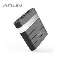 ARUN Hoge Safety10000mah Power Bank Dual USB Met Usb-uitgang 2.1A Backup Batterij Packs Voor Samsung iPhone 6 6 s voor Xiaomi Huawei