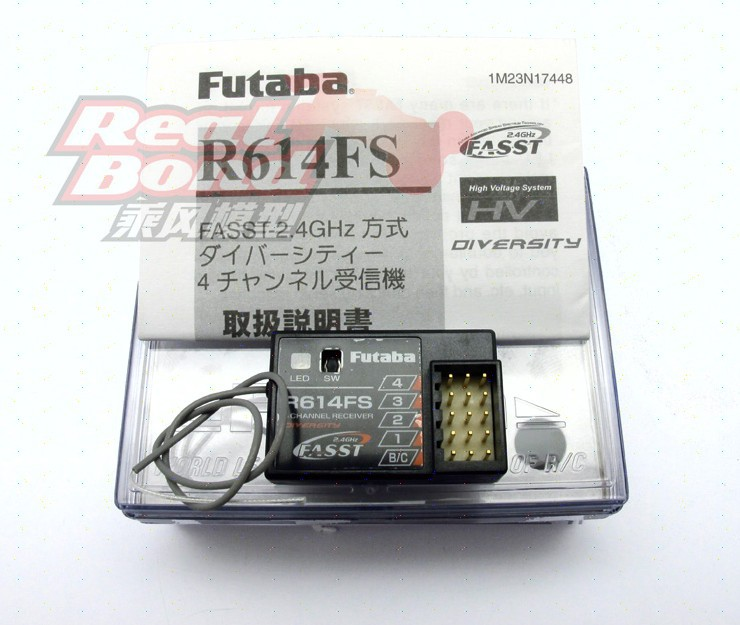 Futaba 4 Channel 2.4GHz FASST Receiver RC Touring Car On Off Road #R614FS free ship rc airplane part 2 4g 6 channel r6008hv 8ch channel r7008hv recivers compatible futaba fasst receiver