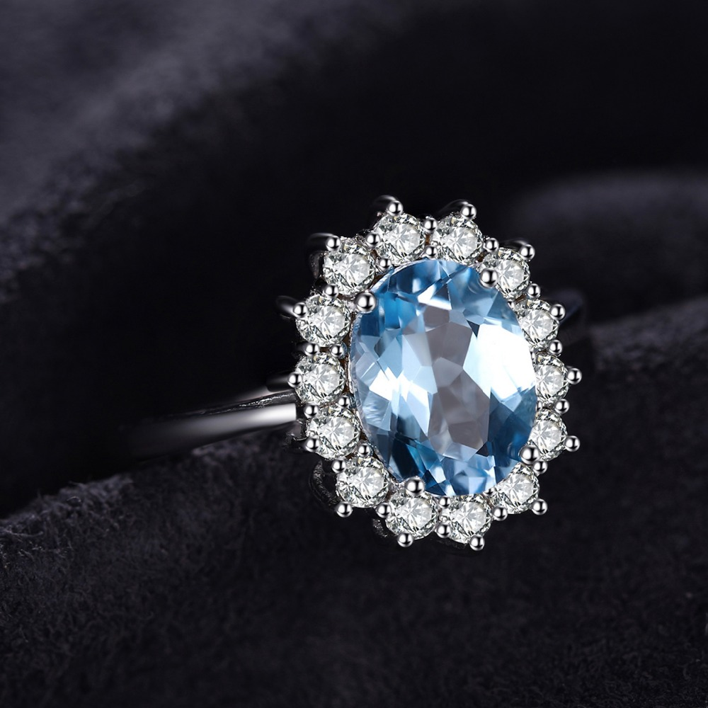 SmyckenPalace Princess Diana William Kate 2.3ct Natural Blue Topaz - Fina smycken - Foto 2