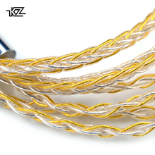 Наушники KZ цвета: золотистый, серебристый смешанные покрытием обновления кабель наушников провода для оригинальный ZS10 Pro ZSN AS10 AS06 Знч ES4 ZSN Pro BA10 ES4