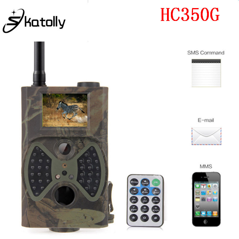 Skatolly HC 350G Sensor HD Hunting Camera 3G SMS MMS GPRS Wildlife Trail Cam 16MP 1080P 0.5s Trigger Wireless Security Camera-in Hunting Cameras from Sports & Entertainment    1