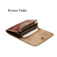 Kweco Vader Handmade Genuine Leather Card Wallets Mini Wallet Women Men Multi Cardholder Cowhide Credit Card