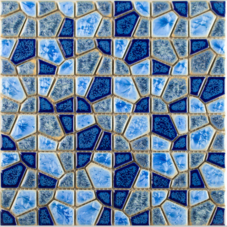 Glazed Blue Diamond Design Ceramic mosaic tile,Home improvement TV bathshower kitchen backdrop fireplace wall decor tile,LSJJY03 dg home подушка birdies on a wire diamond blue