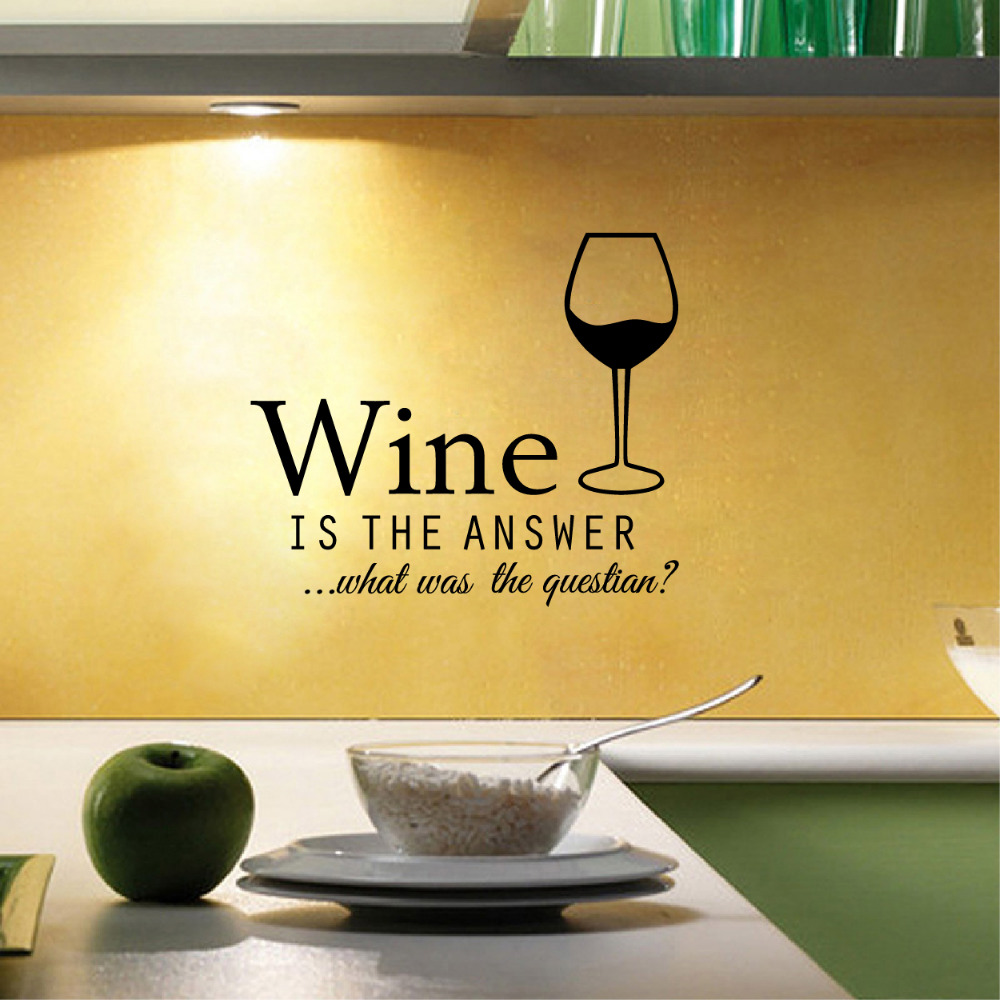 Free Shipping Funny bar pub Wall Stickers , Vinyl Wine Decals home ...