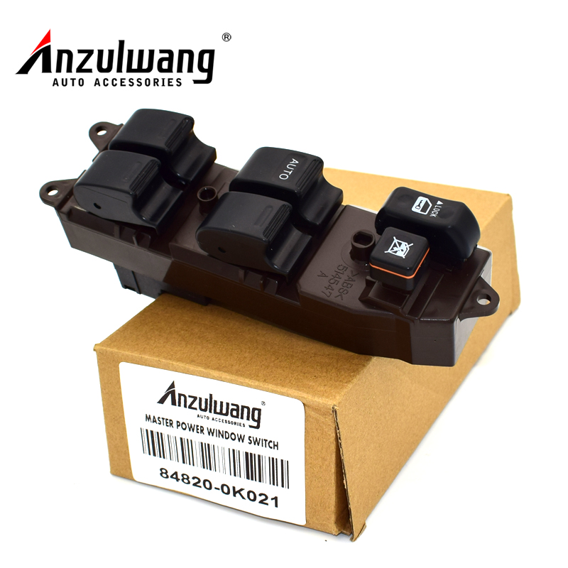 Anzulwang Electric Power Window Lifter Master Control Switch 84820 0k021 For Toyota Hilux 2004