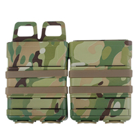 2Pcs Tactical 5.56 Version WST Camouflage Fast Mag in Pouches Magazine Quick Pull Pouch for Outdoor Airsoft Hunting Waregame