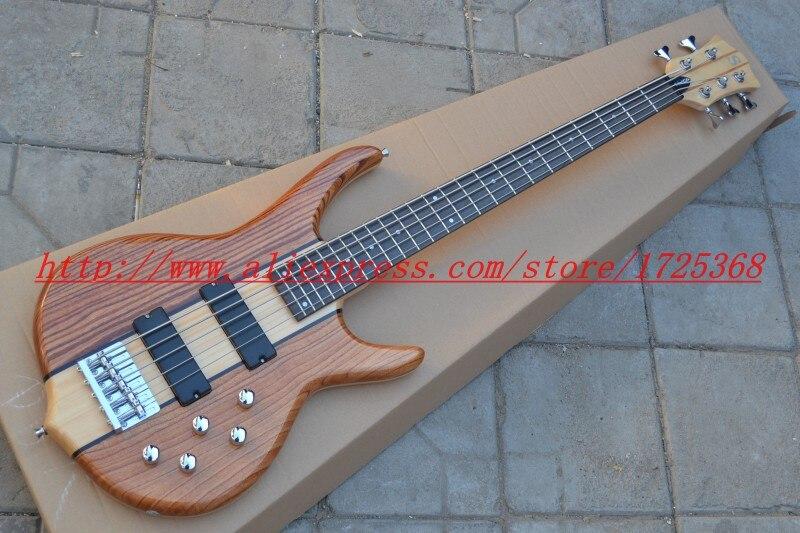 S-mith basse électrique 5 cordes cou à travers la chine guitare pas cher! Livraison Gratuite