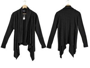 Image 5 - Men gothic punk hip hop hoodie irregular design long cloak japanese streetwear men nightclub singer stage cardigan costume 6XL