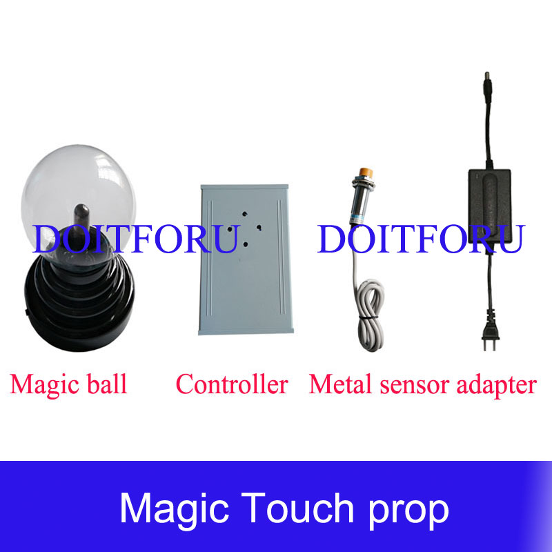 Access Control Kits Escape Room Magic Plasma Ball Mysterious Puzzle For Chamber Room Touching Ball For Certain Time To Unlock Escape Game Prop Security & Protection