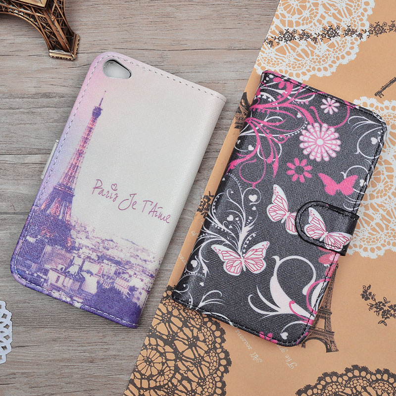 Wallet Case For Lenovo S60 Leather Case For Lenovo S60 S60T S60-t S60W Cute Printing Flip Cover Card Holders Phone Bags & Cases