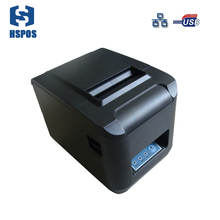 ZJ printer ZJ-8320 260mm/s thermal receipt printer with auto cutter, USB, Ethernet 80mm print head small tickets printer