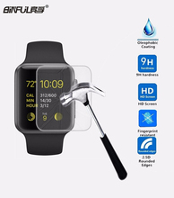ФОТО hot sale 0.26mm 2.5d 9h tempered glass screen protector for apple watch 1 2 38mm/42mm explosion-proof protective film for iwatch