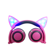 cat ear headphone folded Parade earphone LED headphones with Microphone cosplay earphones for holiday gift or gala parade