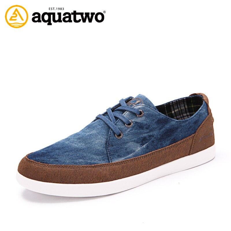 Sale Cheap Men s Shoes 2016 AQUA TWO Brand Suede Leather Lace Up Flat Shoes Men
